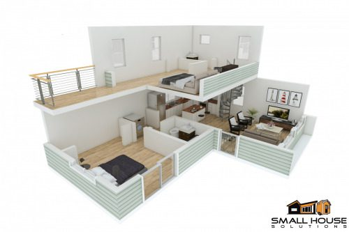 2-level-3d-layout